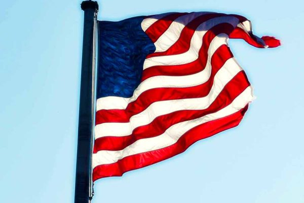 United States of America Flag and Federal Supervised Release.