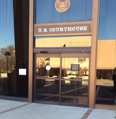 Entrance to U.S. Courthouse in San Antonio, Texas. San Antonio State and Federal Pretrial Detention Defense Attorney.