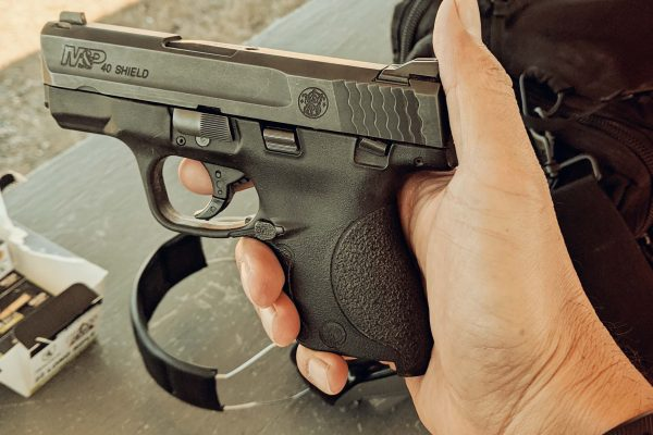 M&P 40 Shield Pistol. San Antonio Federal Weapons Offenses Defense Attorney.