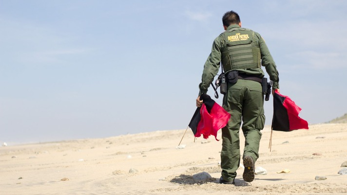 Assaulting a Border Patrol Agent is a federal crime.